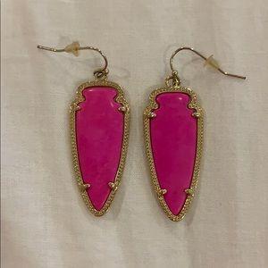 Kendra Scott arrowhead Skylar earrings hot pink